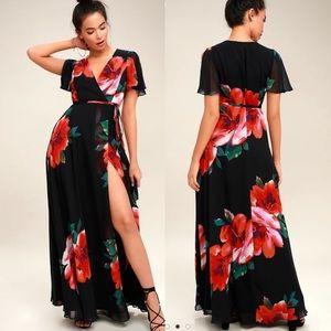 Lulus Sonic Bloom Wrap Dress size XL